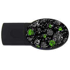 Green Mind Usb Flash Drive Oval (2 Gb)  by Valentinaart