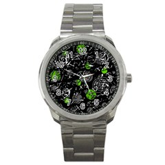Green mind Sport Metal Watch by Valentinaart