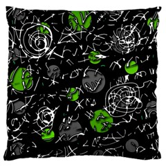 Green Mind Standard Flano Cushion Case (one Side) by Valentinaart