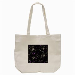 Abstract Mind   Purple Tote Bag (cream) by Valentinaart