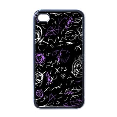 Abstract Mind   Purple Apple Iphone 4 Case (black) by Valentinaart