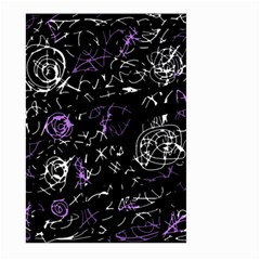 Abstract mind - purple Large Garden Flag (Two Sides) by Valentinaart