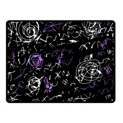 Abstract Mind   Purple Double Sided Fleece Blanket (small)  by Valentinaart