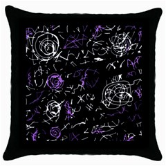 Abstract Mind   Purple Throw Pillow Case (black) by Valentinaart
