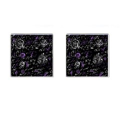 Abstract Mind   Purple Cufflinks (square) by Valentinaart