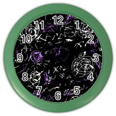 Abstract Mind   Purple Color Wall Clocks by Valentinaart
