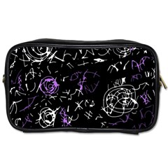 Abstract Mind   Purple Toiletries Bags by Valentinaart