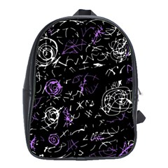 Abstract Mind   Purple School Bags (xl)  by Valentinaart