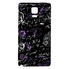 Abstract Mind   Purple Galaxy Note 4 Back Case by Valentinaart