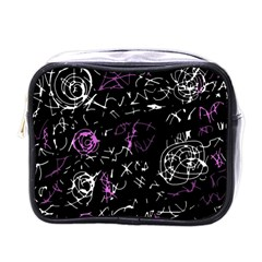 Abstract Mind   Magenta Mini Toiletries Bags by Valentinaart