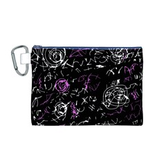 Abstract Mind   Magenta Canvas Cosmetic Bag (m) by Valentinaart