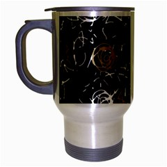 Abstract Mind   Brown Travel Mug (silver Gray) by Valentinaart
