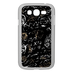 Abstract Mind   Brown Samsung Galaxy Grand Duos I9082 Case (white) by Valentinaart