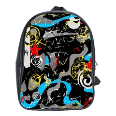 Confusion 2 School Bags(large)  by Valentinaart
