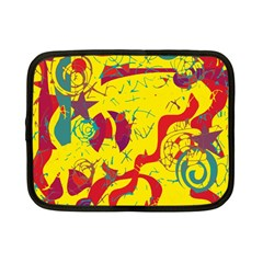 Yellow Confusion Netbook Case (small)  by Valentinaart