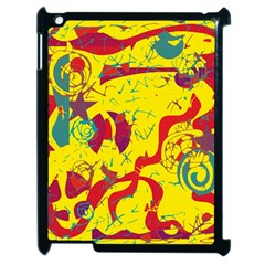 Yellow Confusion Apple Ipad 2 Case (black) by Valentinaart