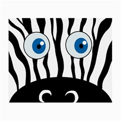 Blue Eye Zebra Small Glasses Cloth (2 Side) by Valentinaart