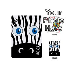 Blue eye zebra Playing Cards 54 (Mini)  by Valentinaart