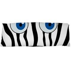 Blue Eye Zebra Body Pillow Case (dakimakura) by Valentinaart