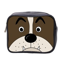 Bulldog Face Mini Toiletries Bag 2 Side by Valentinaart