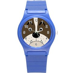 Bulldog Face Round Plastic Sport Watch (s) by Valentinaart