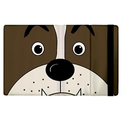 Bulldog Face Apple Ipad 2 Flip Case by Valentinaart