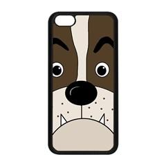 Bulldog Face Apple Iphone 5c Seamless Case (black) by Valentinaart