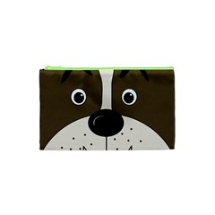 Bulldog Face Cosmetic Bag (xs) by Valentinaart