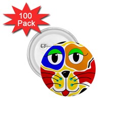 Colorful Cat 1 75  Buttons (100 Pack)  by Valentinaart