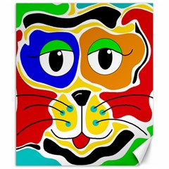 Colorful Cat Canvas 8  X 10  by Valentinaart