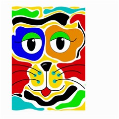Colorful Cat Large Garden Flag (two Sides) by Valentinaart