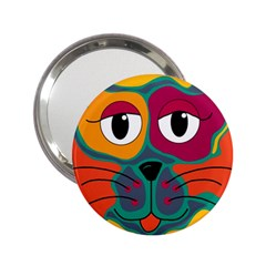 Colorful Cat 2  2 25  Handbag Mirrors by Valentinaart