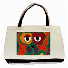 Colorful Cat 2  Basic Tote Bag by Valentinaart