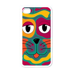 Colorful Cat 2  Apple Iphone 4 Case (white) by Valentinaart