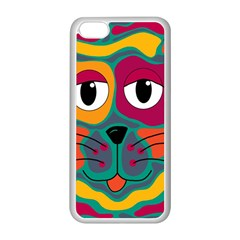 Colorful Cat 2  Apple Iphone 5c Seamless Case (white)