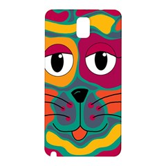 Colorful Cat 2  Samsung Galaxy Note 3 N9005 Hardshell Back Case by Valentinaart