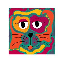 Colorful Cat 2  Small Satin Scarf (square) by Valentinaart