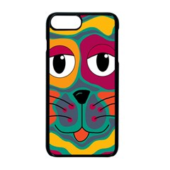 Colorful Cat 2  Apple Iphone 7 Plus Seamless Case (black) by Valentinaart