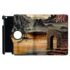 Japanese Lake Of Tranquility Apple Ipad 3/4 Flip 360 Case by ArtByThree
