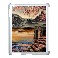 Japanese Lake Of Tranquility Apple Ipad 3/4 Case (white) by ArtByThree