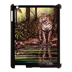 Jaguar In The Jungle Apple Ipad 3/4 Case (black) by ArtByThree