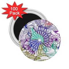 Zentangle Mix 1116a 2 25  Magnets (100 Pack)  by MoreColorsinLife