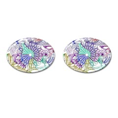 Zentangle Mix 1116a Cufflinks (oval) by MoreColorsinLife