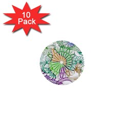 Zentangle Mix 1116c 1  Mini Buttons (10 Pack)  by MoreColorsinLife