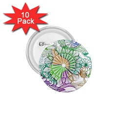 Zentangle Mix 1116c 1 75  Buttons (10 Pack) by MoreColorsinLife