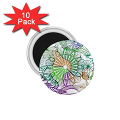 Zentangle Mix 1116c 1 75  Magnets (10 Pack)  by MoreColorsinLife