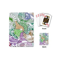Zentangle Mix 1116c Playing Cards (mini)  by MoreColorsinLife