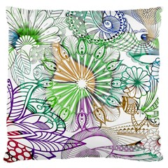 Zentangle Mix 1116c Large Cushion Case (two Sides) by MoreColorsinLife