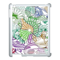 Zentangle Mix 1116c Apple Ipad 3/4 Case (white) by MoreColorsinLife