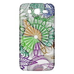 Zentangle Mix 1116c Samsung Galaxy Mega 5 8 I9152 Hardshell Case  by MoreColorsinLife